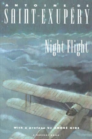 The front page of the book Night Flight by Antoine De Saint-Exupéry